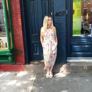 NWT Modcloth Midi parrot print dress sz 10